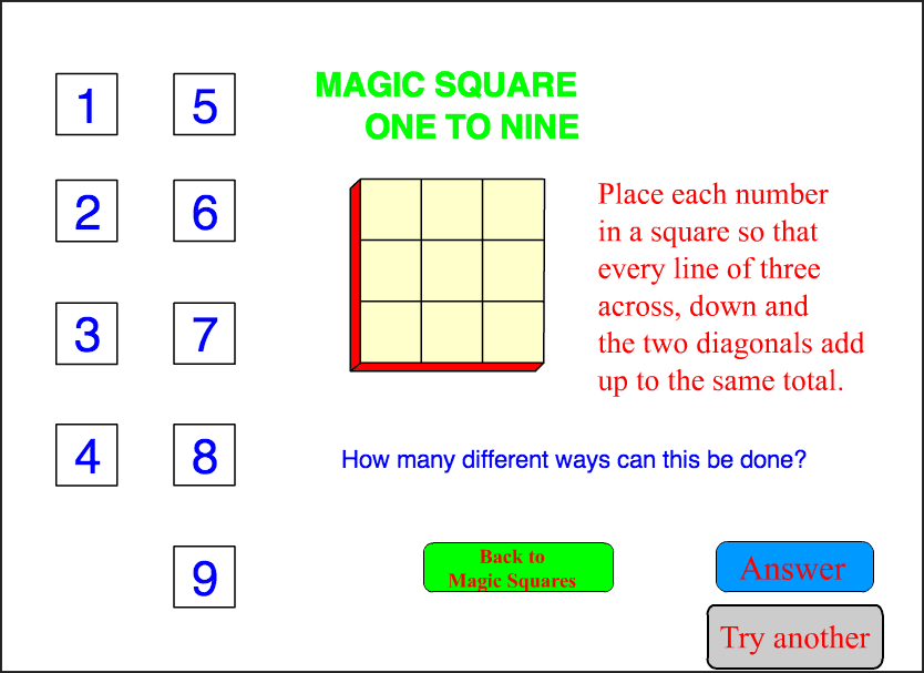1 to 9 Square