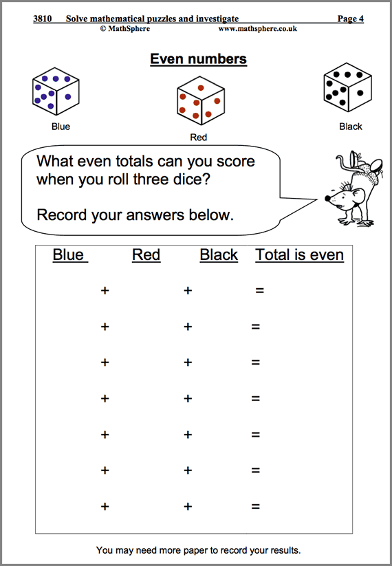 Solve Maths Puzzles Maths Worksheet